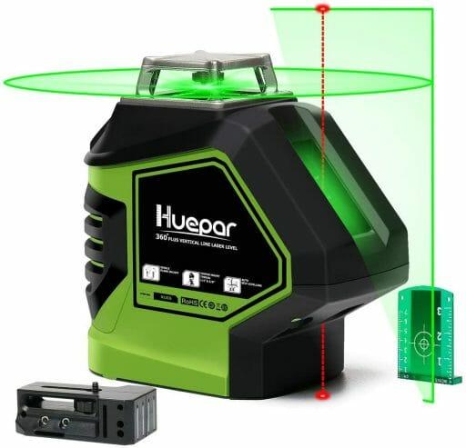 Huepar Self-Leveling green plumb spot laser level