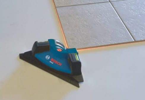 how to use laser level for tile